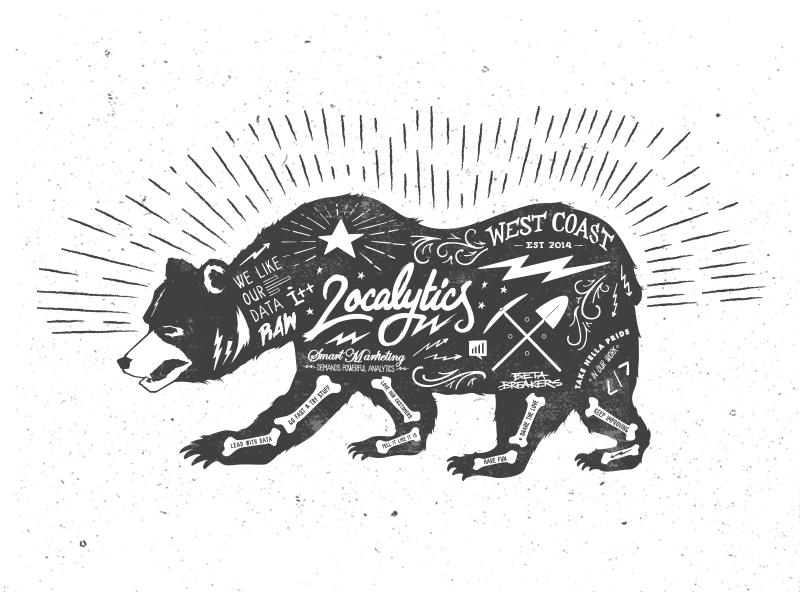 West Coast Best Coast west hipster localytics hydro74 grunge lettering hand lettering california bear