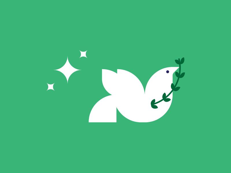 Dove geometric stars bird dove olive branch peace