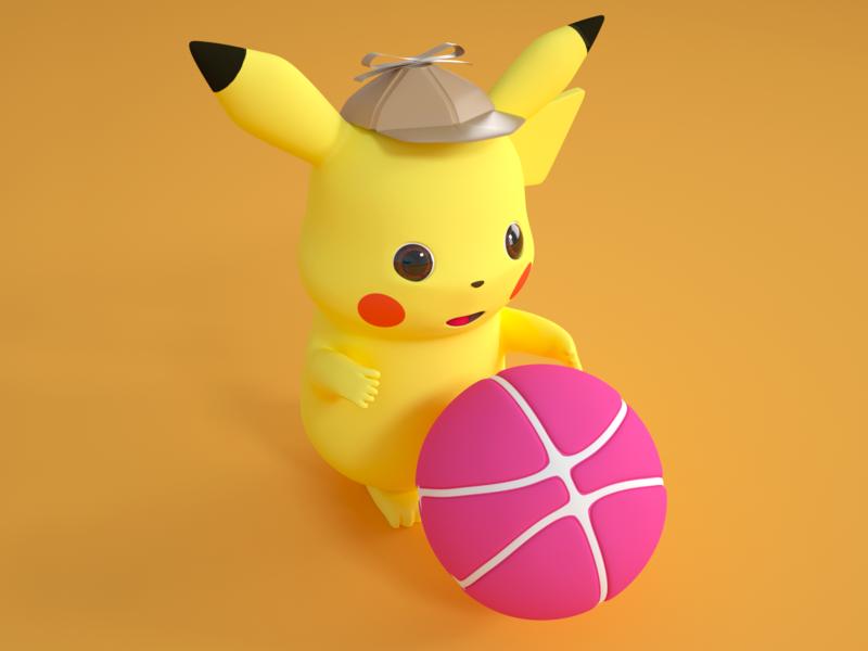 Hi,Dribbble pikachu c4d pokémon