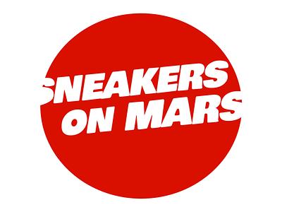 Sneakers on Mars logo typography design logo branding
