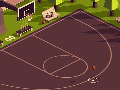 HOOP ball mobil basketball lowpoly