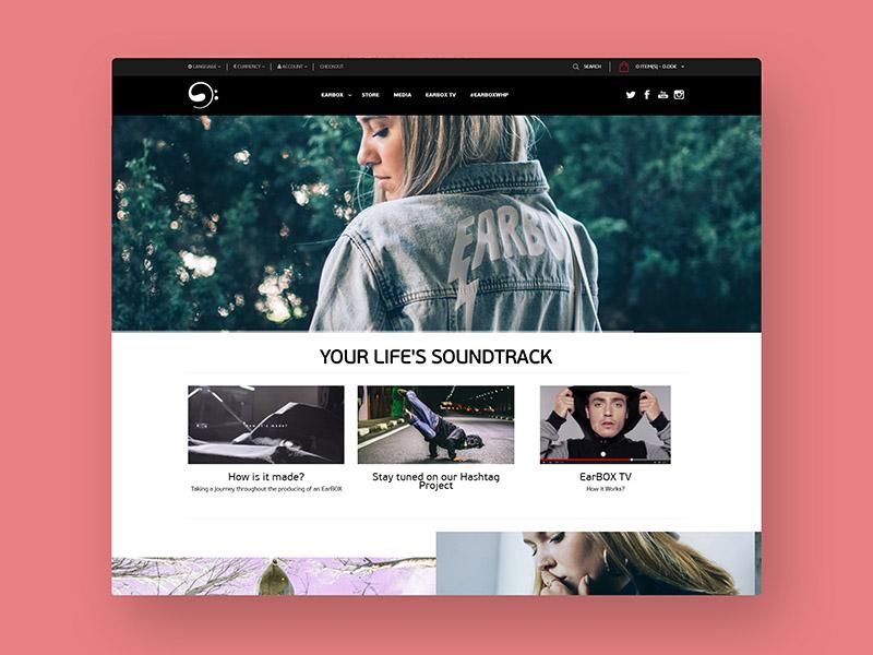 Earbox Wear development design web webdesign