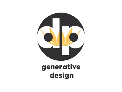DP Generative Design Logo adobe graphicdesign vector branding design brand design logo design logo
