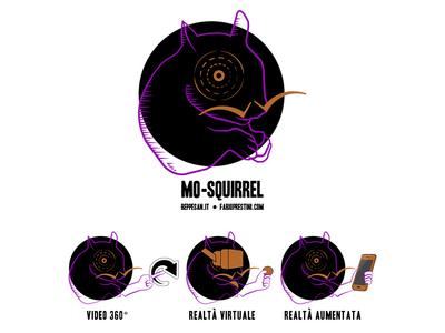 MoSquirrel - logo icon vector logo illustration design colors palette branding