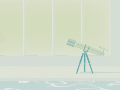 Telescope at the pool