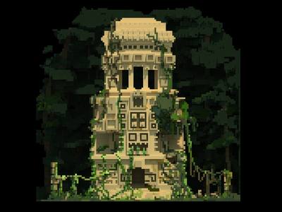 Ancient Temple 01 forest temple voxel