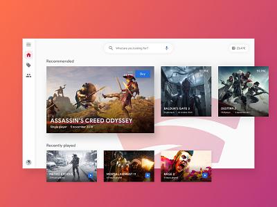 Google Stadia - UI debut debutshot website hellodribbble webdesign uidesign uxdesign game games tv uxui web desktop stadia google ux design ui design design ux ui