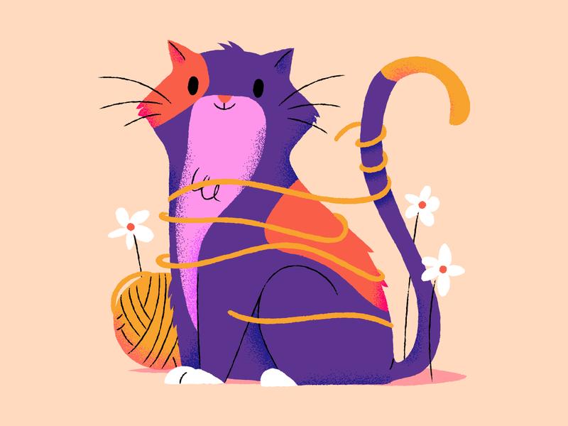 Kitty kitty cats illustration