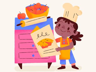 Pies Pies Pies tiny chef menu chef pumpkin pie all other pies apple pie thanksgiving pies illustration
