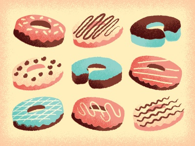 Donuts donuts illustration frosting fried things drawing while hungry