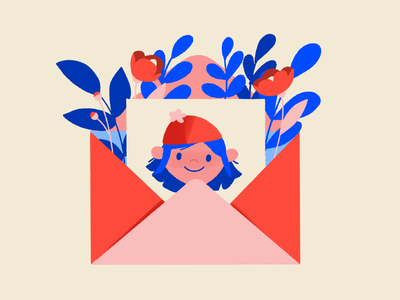 New Newsletter! flora envelope newsletter illustration