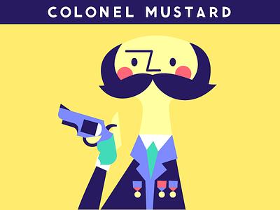 In the Kitchen clue murder gun colonel mustard illustration