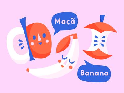 Banana in Portuguese is banana