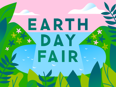 Earth Day is tomorrow pink sky earth illustration