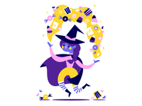 Candy witch loves candy!