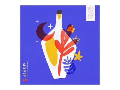 5. Elbow - Little Fictions i love elbow 10x17 blue music elbow illustration
