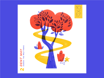 2. Dent May - Across the Multiverse trees music 10x17 illustration