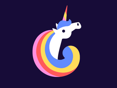 Unicornicopia glorious mane unicorn rainbow illustration