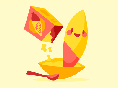 Existential Corn cereal yellow corn corn eating corn illustration