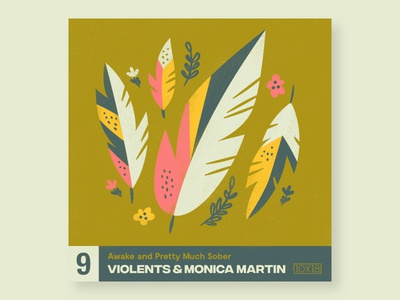 9. Violents & Monica Martin illustration agency 10x18 music illustration