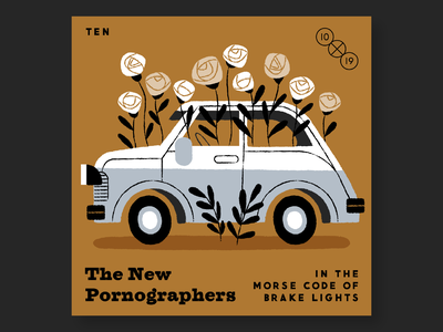 10. The New Pornographers music albums records 10x19 illustrations