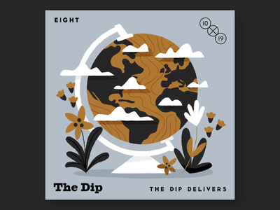 8. The Dip 10x19 music record albums illustration