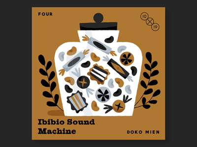 4. Ibibio Sound Machine 10x19 record albums music illustration