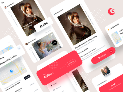The Gallery - (Start selling your Art works) app design minimal design collection buy homepage tracking online selling sale paintings selling art works gallery