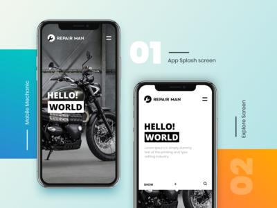 Mobile Mechanic App design