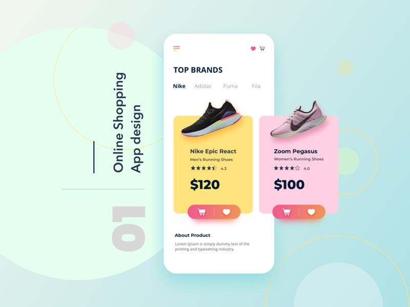 Online Shopping App design online shopping shopping shoes