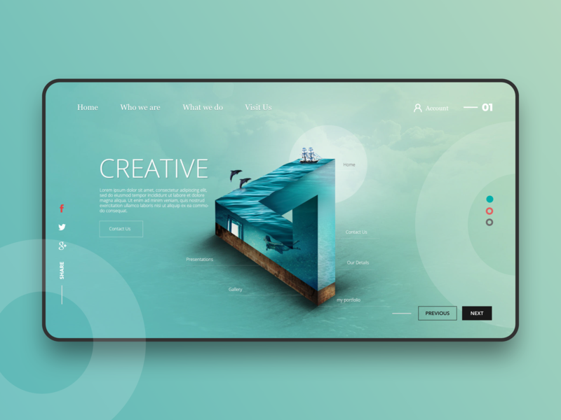 Designer Blog creative website blog creative design