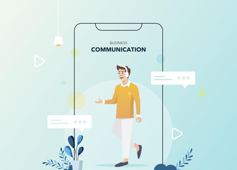 Communication App design call center app design communication app business communication