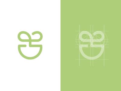 CutePot Logo plant branding symbol identity icon logo