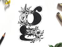 Floral Letter G