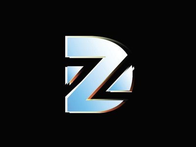 David Z - Monogram monogram letter mark metal deconstructed logo monogram