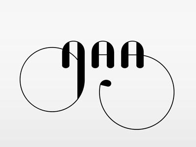 AAA concept typography type design