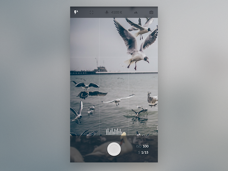 Minimal camera app by christoph duschl dribbble dribbble for Camera minimal