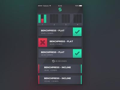 Fitness App bachelor diploma dribble app design ux ui fitness