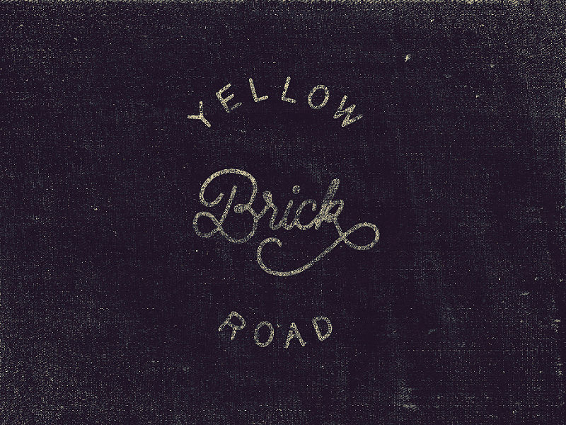 Yellow Brick Road lettering handlettering calligraphy typography logo type handwriting typedesign cursive texture jeans