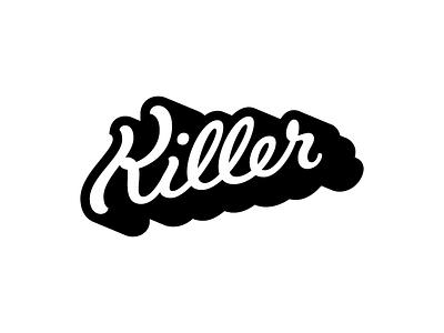 Killer wordmark lettering typography logotype handlettering logo