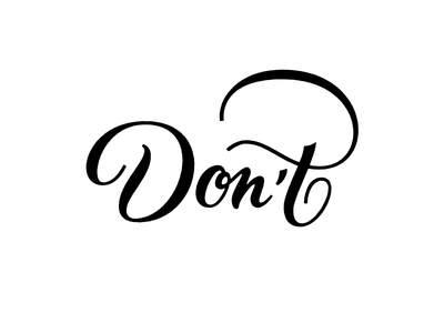 Don't wordmark lettering typography logotype handlettering logo