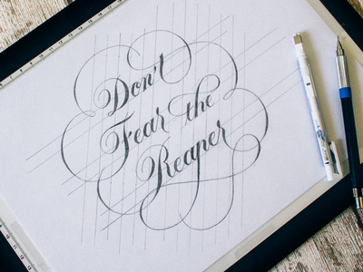 Introduction to Lettering Quote: Hierarchy, Layout & Composition spencerian cursive swashes wordmark lettering typography logotype handlettering logo