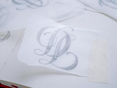Learn to Draw a Monogram ld dl monogram wordmark lettering typography logotype handlettering logo