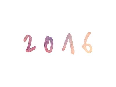 2016 2016 watercolor lettering typography logotype handlettering logo