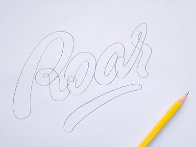 Roar font lettering typography logotype handlettering logo
