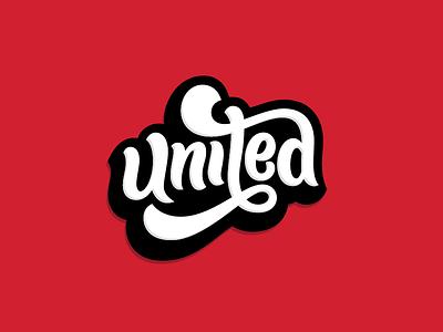 United lettering typography logotype handlettering logo