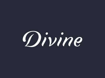 Divine typography logotype logo lettering handlettering