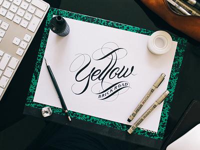 Yellow Brick Road typography logotype logo lettering handlettering