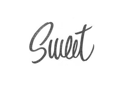 Sweet typography logotype logo lettering handlettering