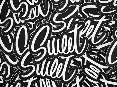 Sweet Stickers sticker print typography logotype logo lettering handlettering